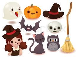 halloween clipart cute collection collection of cute halloween icon stock vector colourbox