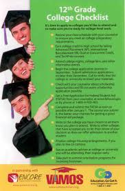 12th grade college checklist vamos scholarships pinterest