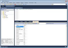 Mysqlwork Bench Mysql Mysql Workbench 6 2 Sql Editor