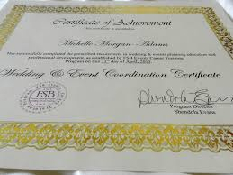 wedding and event planning certification wedding planner certification programs