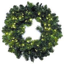 artificial stauffers pine pre lit wreath