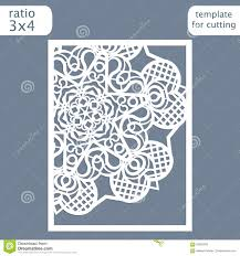 laser cut wedding invitation card template cut out the paper card