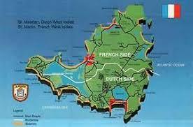 map of st martin map of martin st maarten caribbean