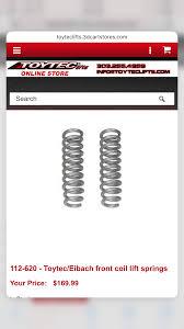 lexus lx450 for sale alberta for sale 112 620 toytec eibach front coil lift springs