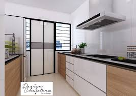 smart inspiration 3 room hdb kitchen renovation design modern for