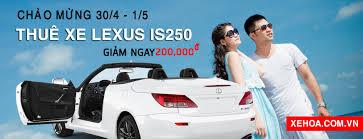 xe lexus mui tran 4 cho khuyến mại chào mừng 30 4 và 1 5 thuê xe hoa xe cưới