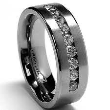 wedding rings tungsten images Tungsten black diamond rings wedding promise diamond jpg