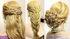 Easy Hairstyle Tutorials For Long Hair by 3 Easy Hairstyles For Long Hair Tutorial Cute Braids Youtube