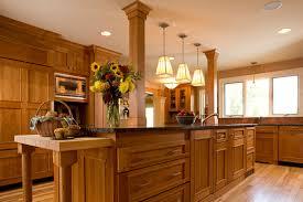 cabinets for craftsman style kitchen craftsman style kitchen with rich wood cabinets acm design