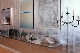 Wall Art For Dining Room Contemporary by Silver Leaf Wall Art Display Contemporary Dining Room Dallas