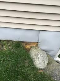 how to repair exposed exterior foundation insulation home