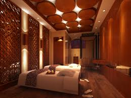 3d spa room with wooden decor partitions cgtrader