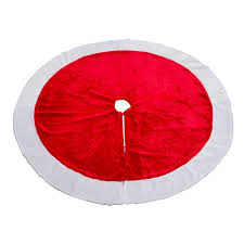 Extra Large Christmas Tree Ornaments by 120cm Round Extra Large Christmas Tree Skirt Red Plush Aprons 2017