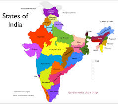 Physical Map Of India by Geocurrents Maps Of Administrative Divisions Within States