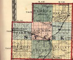 Map Of Illinois Counties And Cities by Stark County Illinois Maps And Gazetteers