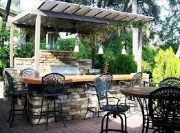 outdoor kitchen countertop ideas outdoor outdoor kitchen design with small pergola by