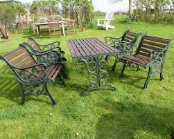 cast iron outdoor table antiques atlas cast iron garden table 4 chairs