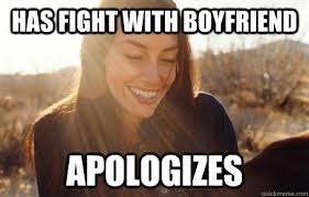 Girlfriend And Boyfriend Memes - has fight with boyfriend apologizes awesome girlfriend alice
