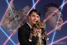 Laser Meme - draven rodriguez star of laser cat yearbook meme dies at 17