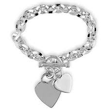 miabella sterling silver charm bracelet 7 5