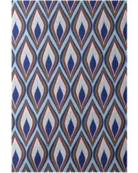 Royal Blue And White Rug Fall Into This Deal On E By Design Decorative Abstract Diamond