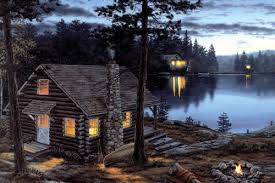 lighted canvas art with timer led lighted lake cabin canvas wall art w timer picture lodge decor