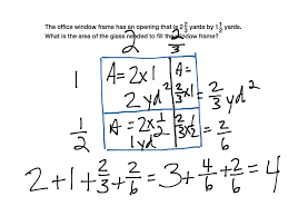 multiplying mixed numbers area model math elementary math