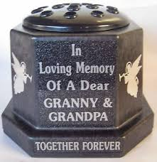 Memorial Vases For Graves Uk Memorial Vase Pot Grave Cemetery Granny U0026 Grandpa Angels In Loving