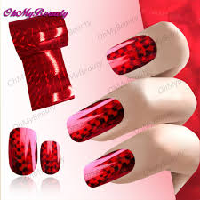 2 roll red laser transfer foil nails art sticker decaks flash