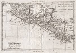 Map Of Central Mexico by File 1780 Raynal And Bonne Map Of Central America And Southern