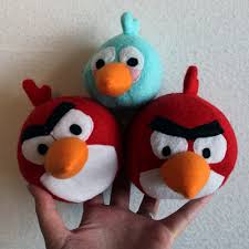 obsessively stitching angry birds plush
