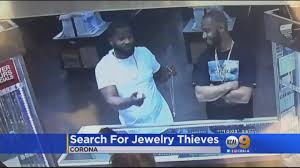 two thieves caught on camera in corona jewelry store robbery cbs
