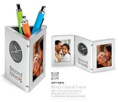 Office Desk Gift Corporate Gifts For Office Desk Clock Pen Holder Photo Frame