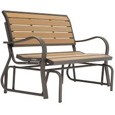 Glider Porch Lifetime Wood Alternative Glider Bench 60055 Walmart Com