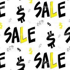Promotion Color Sale Tag Label Yellow Black Color Set Of Flat Design Mbe Sticker