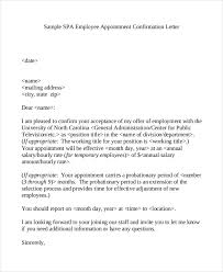 Confirmation Extension Letter Format 44 appointment letter template exles free premium templates