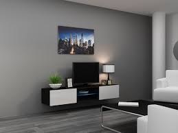Led Tv Furniture Furniture Rectangle White Acrylic Wall Tv Stand With Led Tv