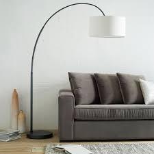 overarching linen shade floor lamp antique bronze west elm