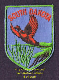 state bird of south dakota lmh patch badge ring necked pheasant chinese common state bird