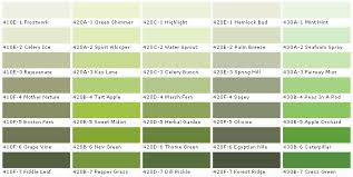 different colors of green paint alluring different shades of green