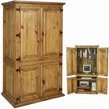 Pine And Oak Furniture Furniture Charming Oak Computer Armoire With Drawers On Rug And