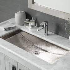 hammered nickel bathroom sink trough 30 rectangular copper bathroom sink native trails