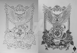 owl tattoos design owl tattoo design by theresedrawings on deviantart