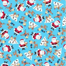 cotton fabric fabric rudolph and friends reindeer