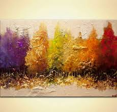modern paint painting modern seasonal painting textured landscape art 9173