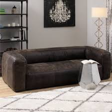 Leather Sofa Brown Diva Outback Bridle Italian Leather Sofa Free Shipping Today