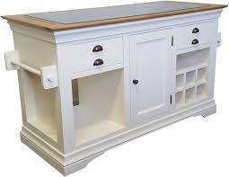 dijon cream painted furniture large granite top kitchen island