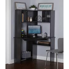 morgan computer desk with hutch black oak box 2 walmart com