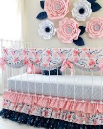Pink And Aqua Crib Bedding Floral Crib Bedding Archives Lottie Da Baby Baby Bedding