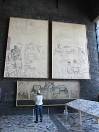 mural sketches picture of museo diego rivera anahuacalli mexico